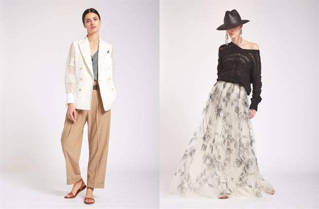 Brunello Cucinelli 2020春夏透明系女裝,打造夏日空氣感美人(圖/品牌提供)