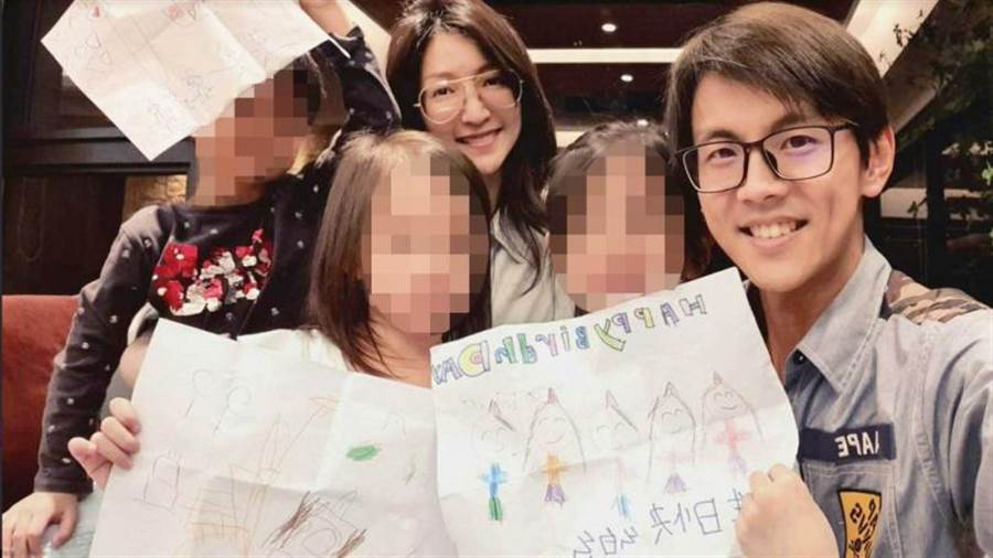 育有2女1子的阿翔與Grace,常在社群網站曬兒秀幸福。(圖/翻攝自浩角翔起臉書)