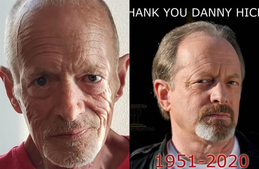 68歲丹希克斯病逝。(圖/翻攝自丹希克斯、經紀公司臉書)