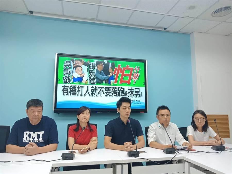 國民黨立委(左起)陳雪生、林奕華、蔣萬安、洪孟楷、吳怡玎。(國民黨團提供)