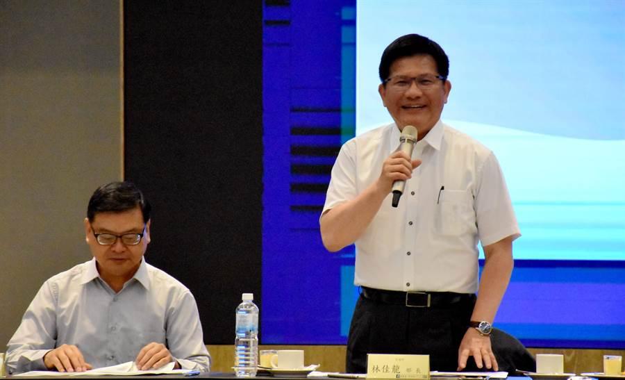 交通部長林佳龍今1日南下與雲嘉南地區觀光產業代表座談。(呂妍庭攝)