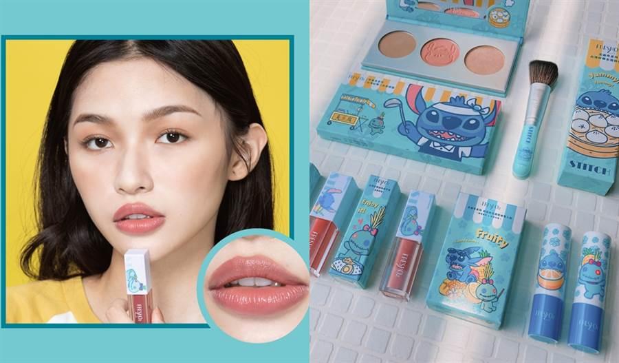 FreshO2與迪士尼攜手推出結合台灣小吃的史迪奇彩妝。(圖/品牌提供、邱映慈攝影)