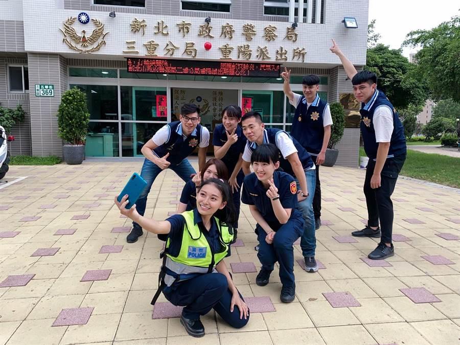 祈錦鈅拍攝宣導反毒影片。(固力狗娛樂提供)
