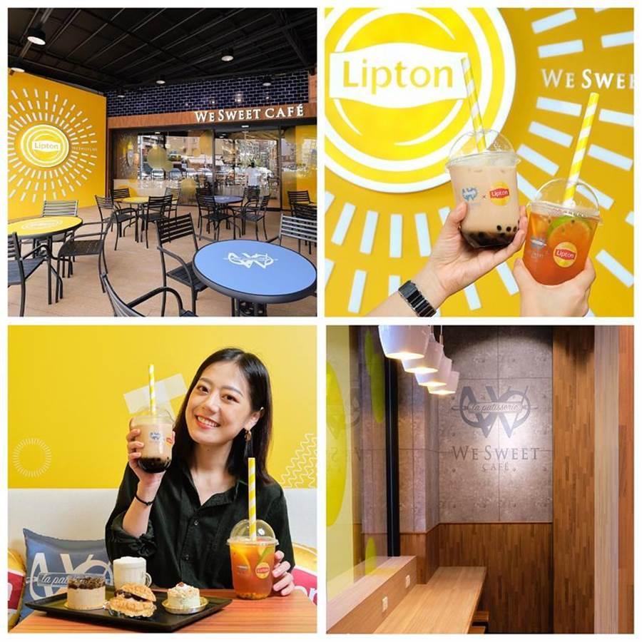 全聯宣布,全台第二間、北部第一間We Sweet Cafe咖啡廳,將於7/4在東區大安延吉店盛大開幕,並攜手茶飲品牌「立頓」打造快閃主題聯名店。圖/全聯提供