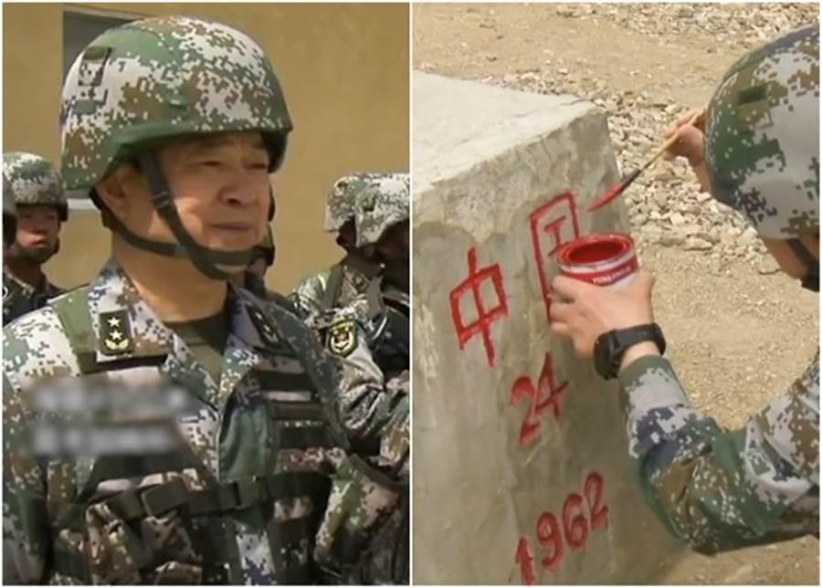 解放軍西藏軍區司令員汪海江於端午節期間,與官兵前往位於西藏軍區最西端、海拔4900米的昆木加哨所巡邏,用紅色油漆為界碑描紅。而碑上除了寫上「中國」和界碑的號碼「24」外,還有「1962」這數字。當年中印爆發歷時1個月的戰爭,雙方傷亡數千人。(東網)