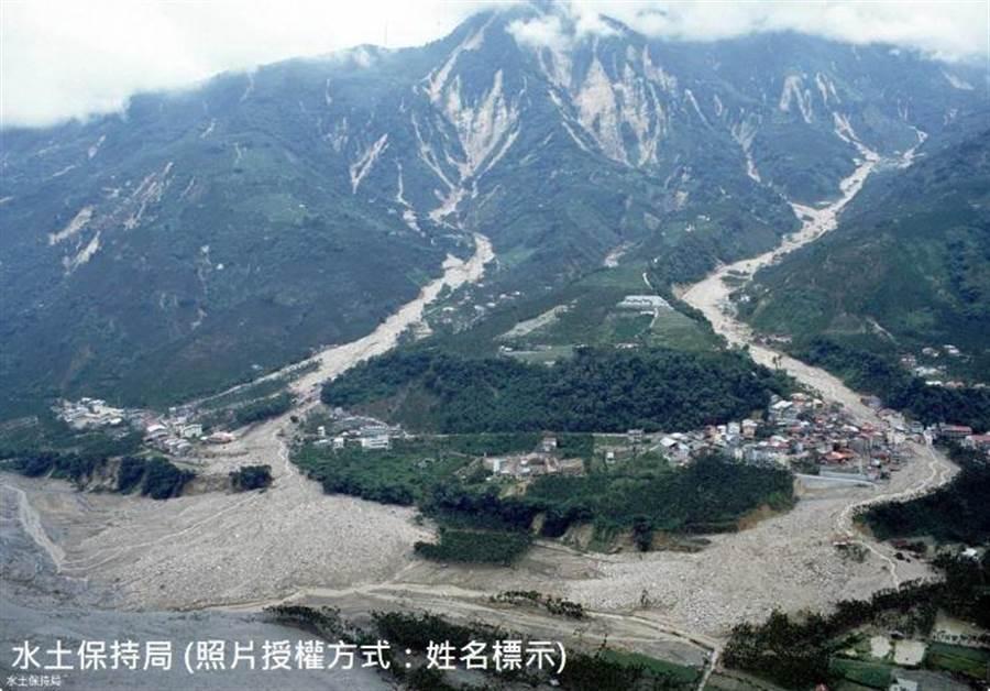 山崩地裂,大地陵夷,在台灣各地留下印記。(水土保持局提供/廖志晃南投傳真)