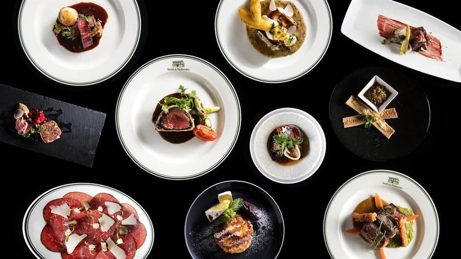 「極致全牛饗宴」共有10道來自牛隻10種部位的美味料理。(Smith & Wollensky提供)