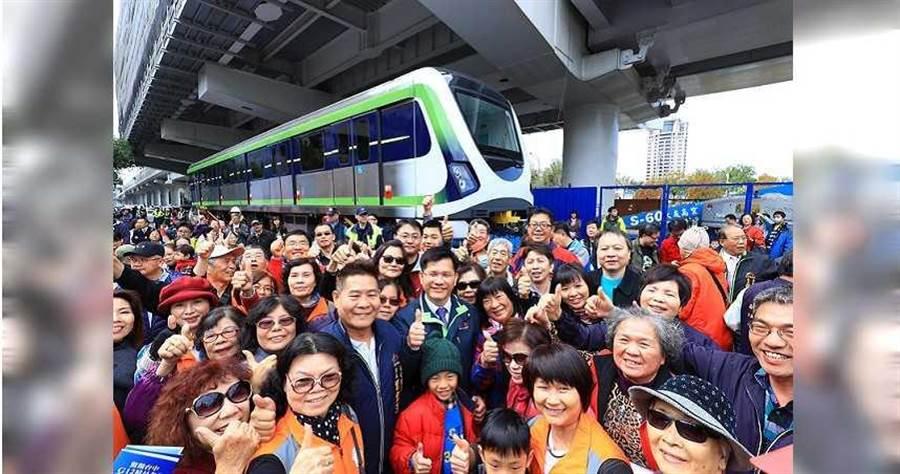 台中捷運綠線即將通車。(圖/翻攝自林佳龍臉書)