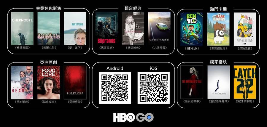 HBO GO正式在台灣上架APP,可直接訂閱。(WarnerMedia提供)