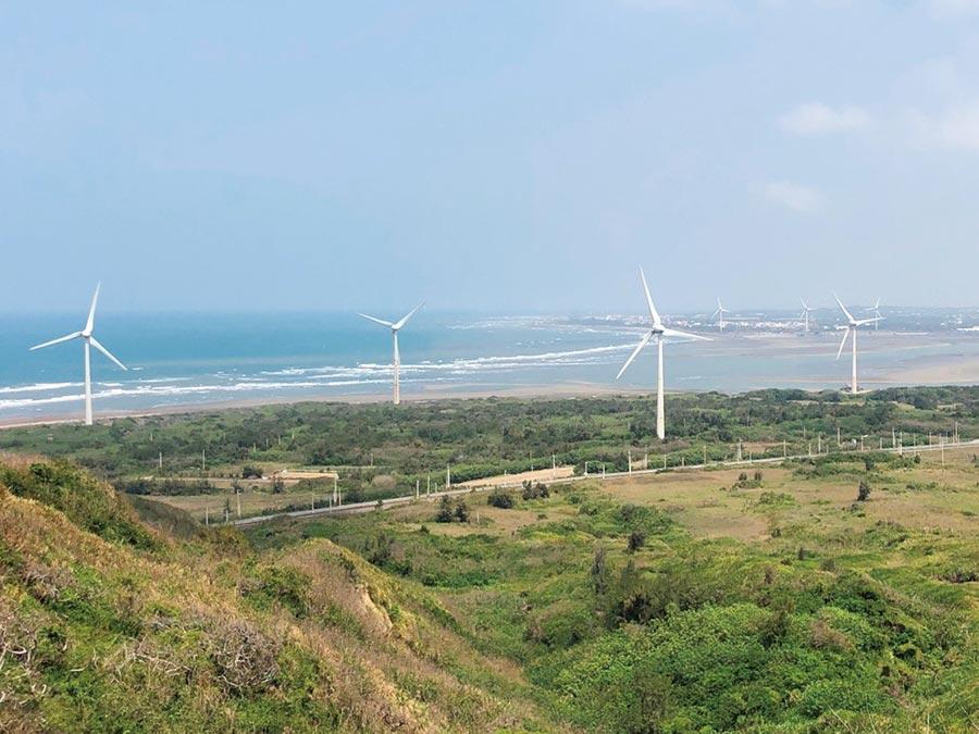 苗栗風力公司之風場。圖/業者提供