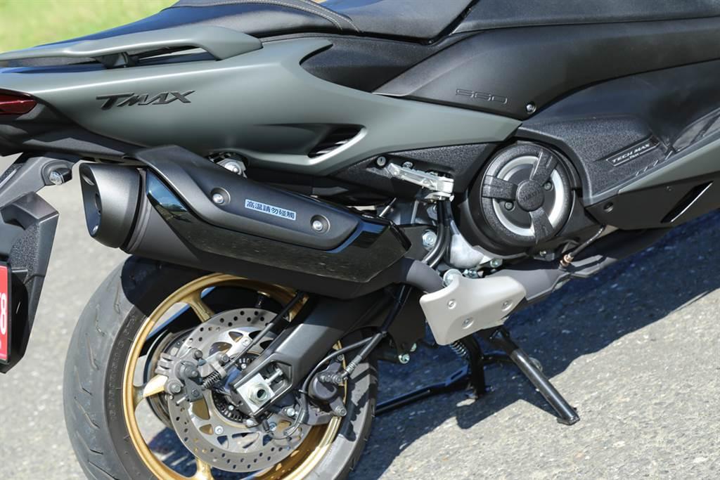 渾厚扎實的引擎聲浪,讓TMAX 560更具魅力。