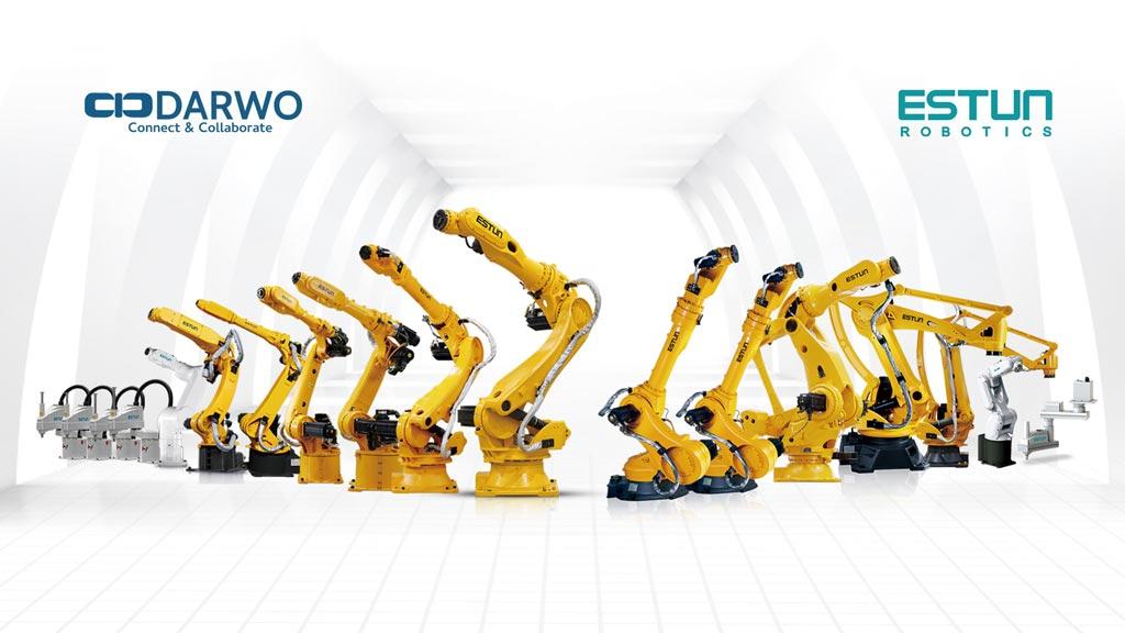 大沃科技獨家代理大陸工業機器人第一領導品牌埃斯頓(ESTUN)。圖/業者提供
