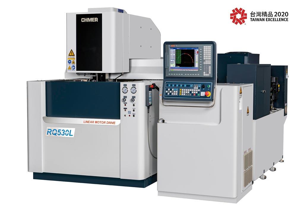 慶鴻機電RQ530L-龍門型線馬驅動線切割機,掌握關鍵技術,展現智慧機械實力,獲2020年台灣精品獎肯定。圖/慶鴻提供