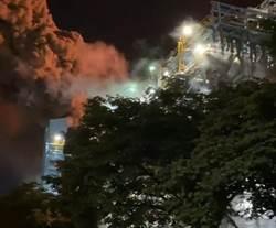 中油林園廠排放黑煙 高雄環保局重罰450萬