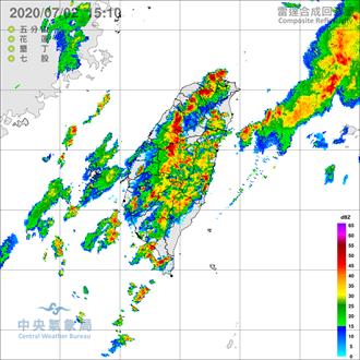 不斷更新》強降雨來了!氣象局發布北部大雷雨 全台17縣市大雨