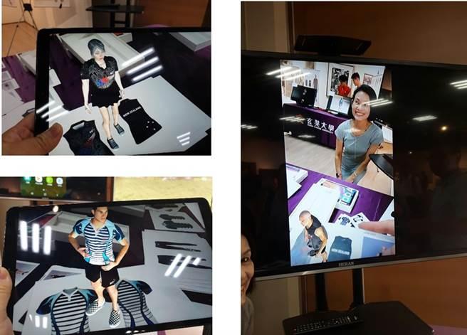 學生成果展示,學生透過先進的AR擴增實境技術進行成果展示。(玄奘大學提供)