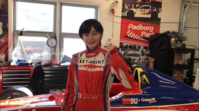 14歲賽車美少女野田樹潤奪得F4丹麥站冠軍,寫下最年輕F4單站冠軍紀錄。(取自野田樹潤臉書)
