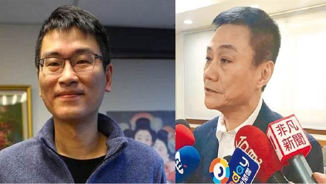 民进党台北市议员 梁文杰(左)、高雄市议会已故议长 许崑源(右)。(图/合成图,资料照)