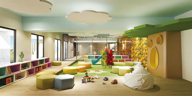 「閱讀中研」透過自然光、親子公設串聯的「日系全齡化樂活親子宅」設計概念,營造幸福社區居住體驗。圖/業者提供