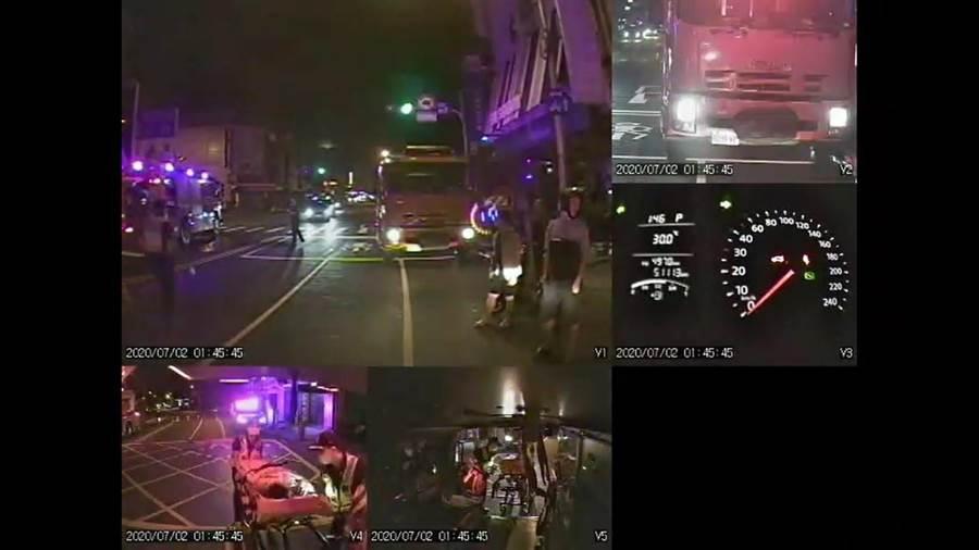 台中市太平區中山路4段1棟一處民宅,2日凌晨發生火警,造成6人受傷送醫。(台中市消防局提供/張妍溱台中傳真)