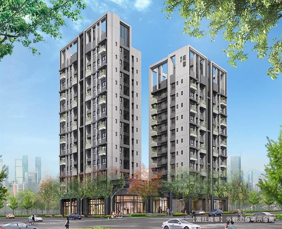 位於北屯區的「富旺雍華」擁有絕佳的宜居環境,打造3-4房的銀級智慧宅,深受自住客喜愛。/圖由業者提供