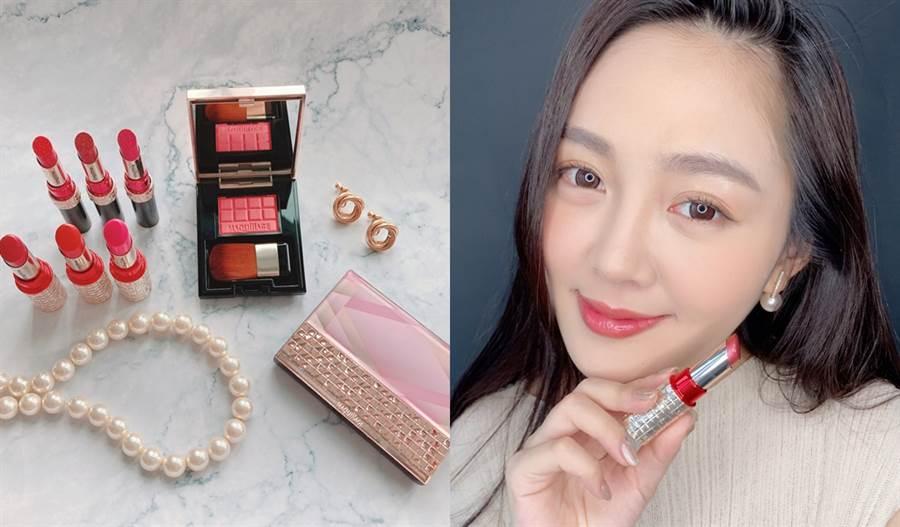 心機彩妝於2020夏季推出全新寶石限定彩妝,唇膏的兩款主打色都非常襯亞洲女性的膚色。(圖/邱映慈攝影)