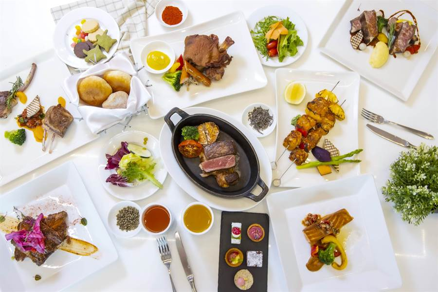 六福萬怡再創新玩法,敘日推59種主餐組合,半半主餐一次品嚐雙美味。(六福提供)