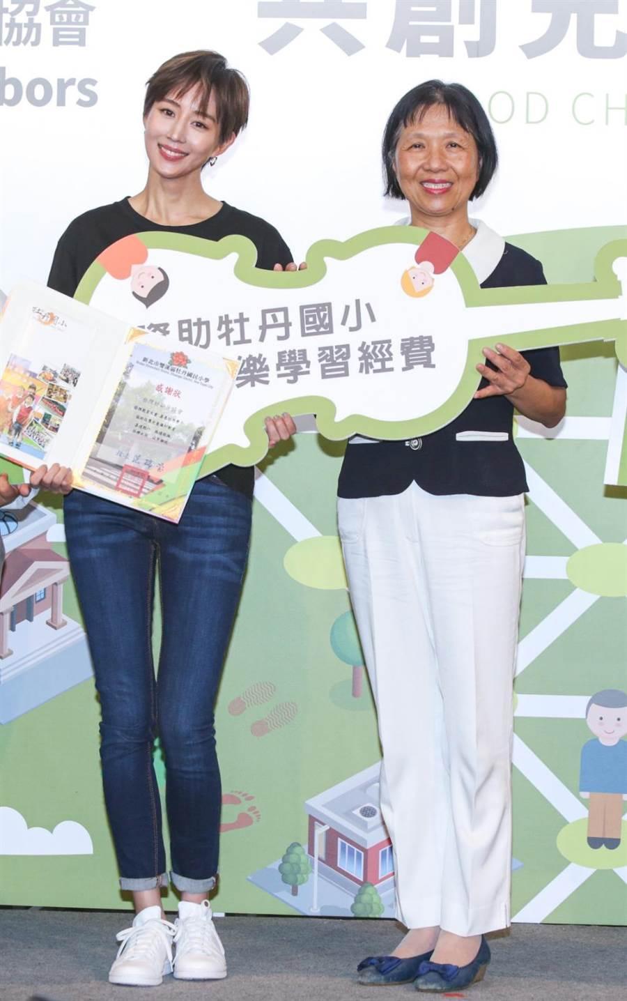 張鈞甯2日出席公益活動。(吳松翰攝)