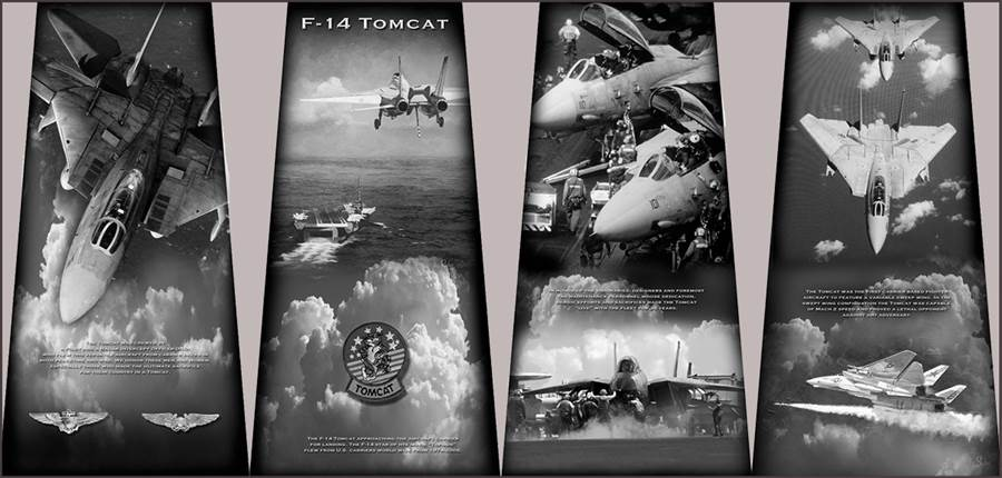 F-14紀念碑的4面圖樣。(圖/Tom Cat Monument)