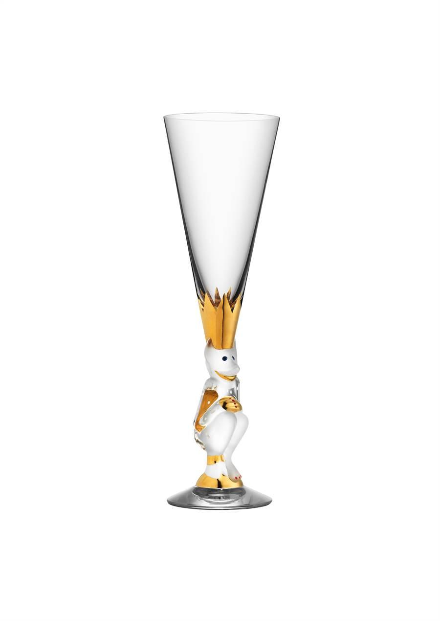 Orrefors諾貝爾香檳杯,1萬2800元。(旺代提供)