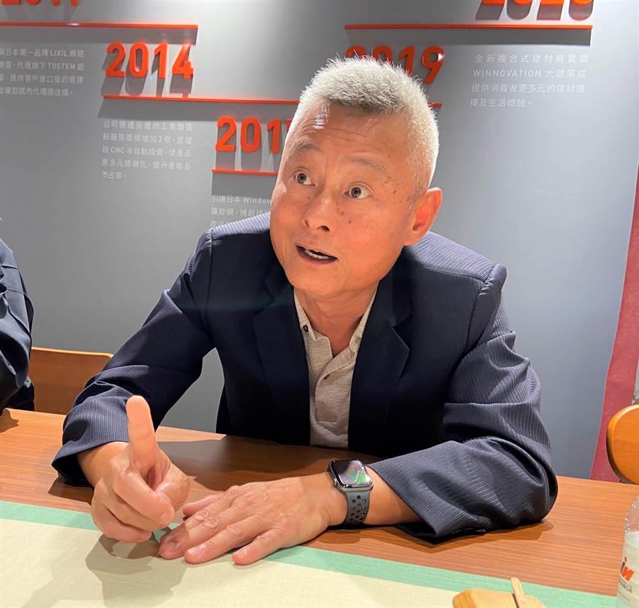 新任台灣行動菩薩助學協會理事長、勝群金屬董事長陳武華表示,願力有多大,力量就有多大!(盧金足攝)