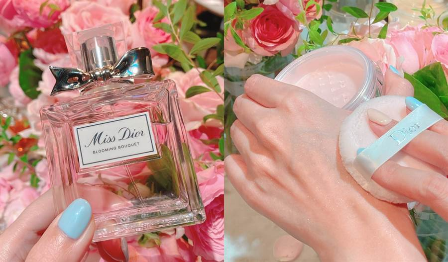 Dior全新推出「花漾迪奧香體蜜粉」,融合花漾迪奧淡香水的柔美香氣,帶給肌膚迷人的味道和耀眼光澤。(圖/邱映慈攝影)