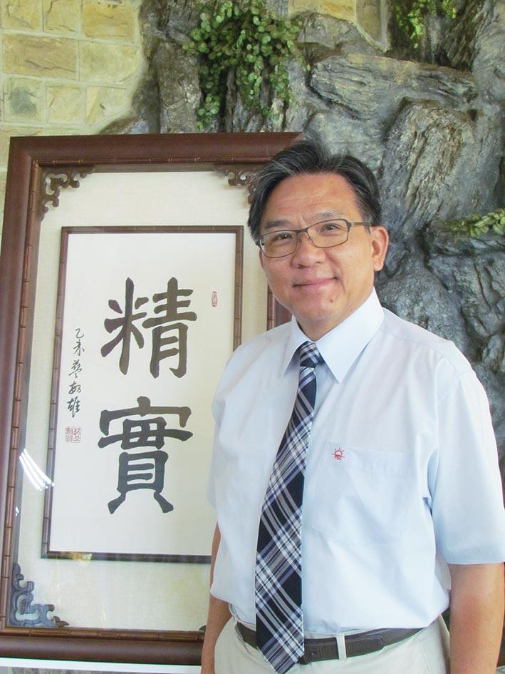 台灣鑽石董事長藍敏雄。圖/魏益權