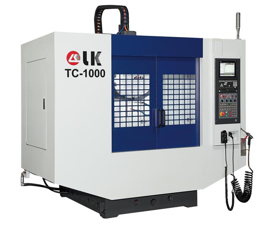 力勁機械新上市的TC-1000鑽孔攻牙機。圖/業者提供