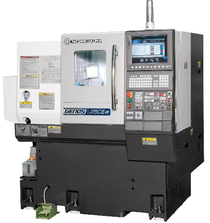 世寶機器五金公司參展台南機械展,將展出的大同OKUMA股份有限公司L-250Ⅱ-e(Lx500)CNC車床。圖/世寶機器五金提供