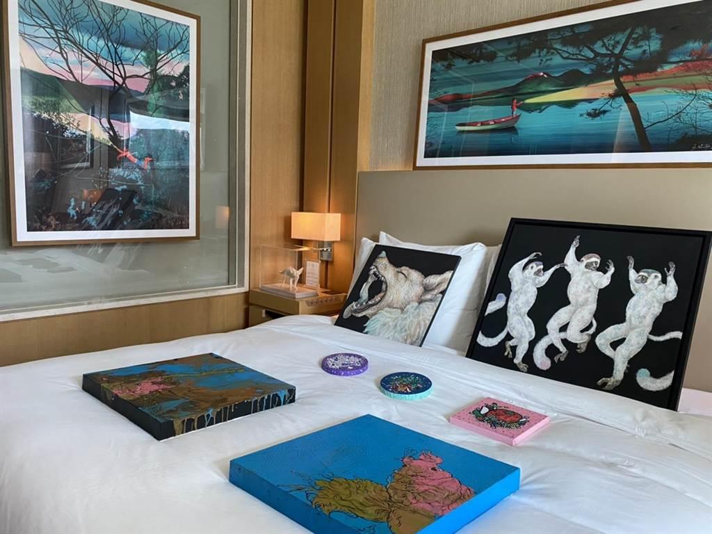 台中藝博將在7月16日至7月19日在台中日月千禧酒店登場,這也是疫情紓緩、中央疫情指揮中心開放藝文活動之後第一場飯店型藝術博覽會。(馮惠宜攝)