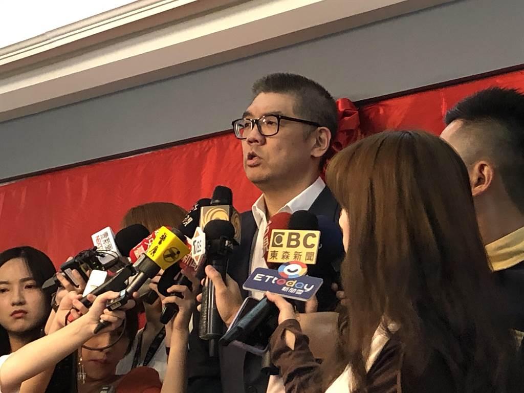 國民黨智庫副董事長連勝文上午接受媒體採訪。(趙婉淳攝)