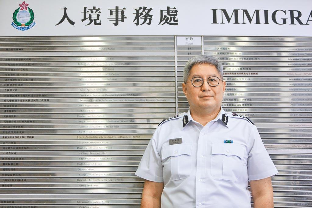 香港特區政府入境事務處處長區嘉宏。(中新社)