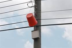 奇景!垃圾桶竟高掛路燈上 農民:LED太亮減少光害