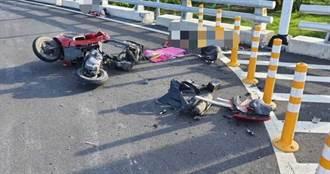 連人帶車被撞飛10公尺 女騎士與汽車擦撞慘死