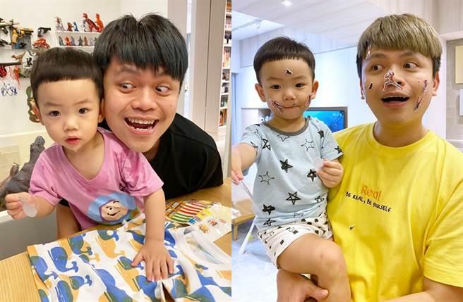 蔡桃貴本月過2歲生日。(圖/翻攝自蔡阿嘎臉書)