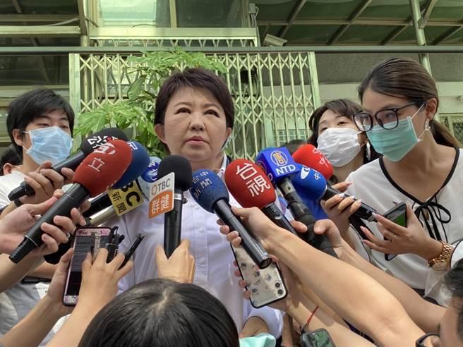 台中市長盧秀燕表示,市府將配合釐清責任,協助家屬安排後事。(馮惠宜攝)