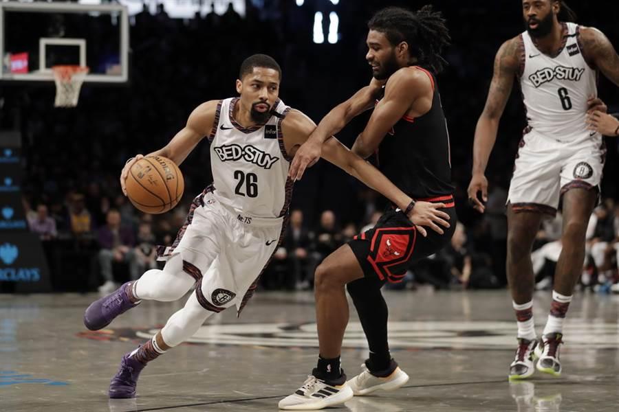 籃網後衛丁維迪很可能是NBA這波新增9名確診球員當中的1人。(美聯社)
