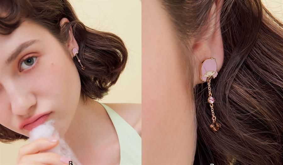 雙子星夜空耳環。(圖/品牌提供)