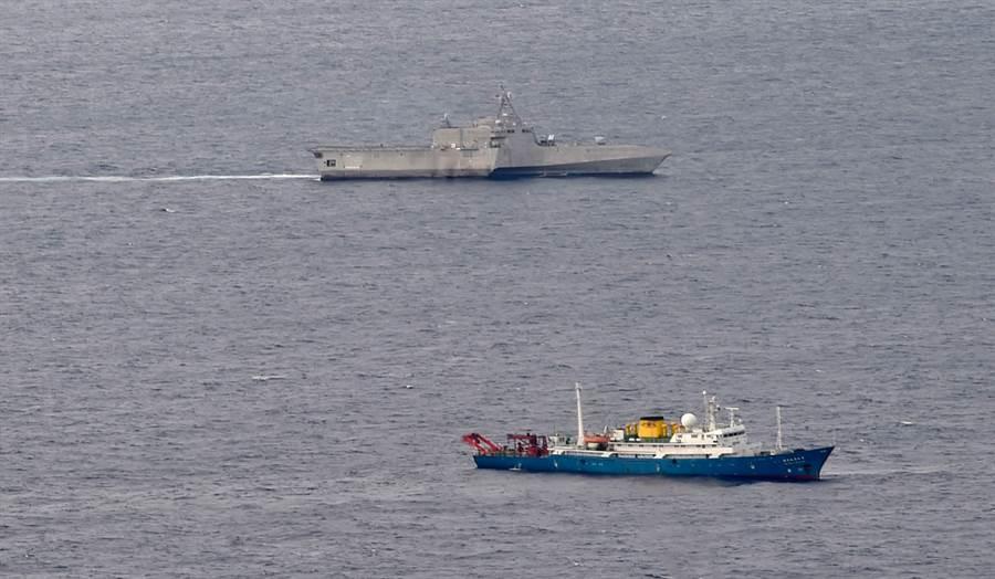 美國海軍「吉福茲」號瀕海戰鬥艦可能涉及追蹤中國科考船。(圖/美軍網站)