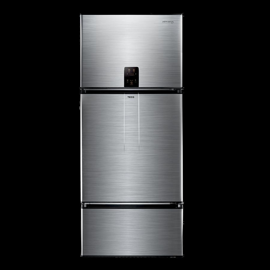 東元2個冷凍室節能變頻冰箱,展場價3萬1900元。(東元提供)
