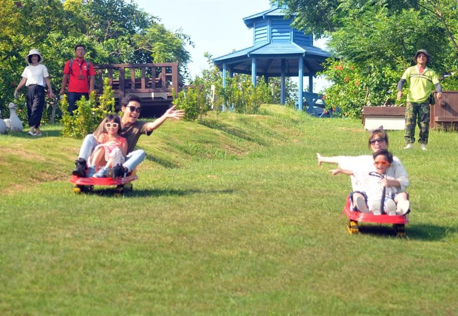 金門4所1園的遊憩資源豐富,適合全家親子遊。(李金生攝)