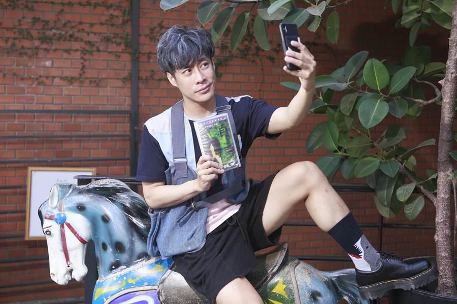 陳栢青從小愛看恐怖片,最新小說從恐怖片中得到靈感。(張鎧乙攝)