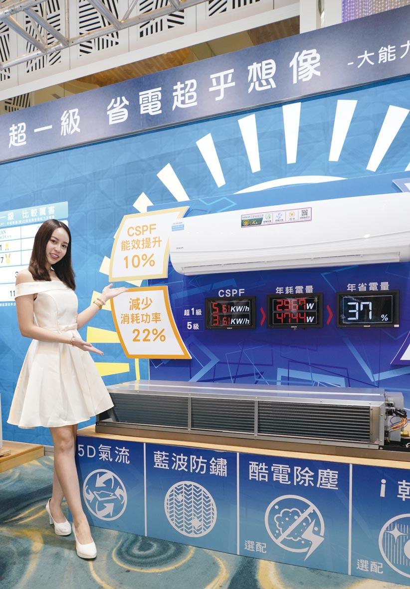 禾聯碩新上市的超一級變頻空調,省電超乎想像。圖/業者提供