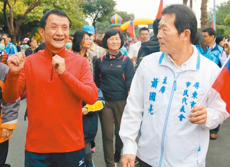 屏東市長林恊松(左)及市民代表會主席蕭國亮(右)疑似涉貪雙雙被押,震撼屏東政壇。(翻攝屏東市公所臉書/潘建志屏東傳真)